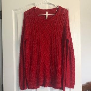 Aeropostale Long Red Sweater!!! SIZE M